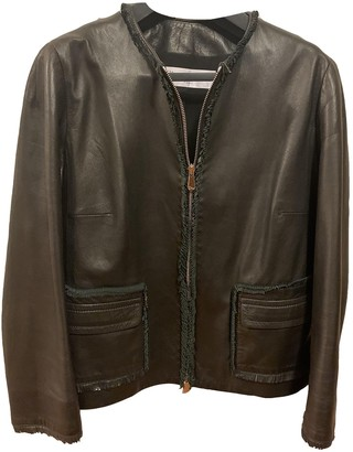 Christian Dior Black Leather Leather Jacket for Women