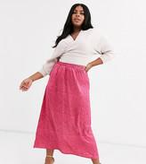 AX Paris Plus Plus a-line midi skirt in leopard print