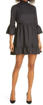 Alice + Olivia Aislyn Flutter Sleeve Tiered Minidress