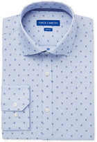 Vince Camuto Men's Slim-Fit Comfort Stretch Blue Square Dobby Dress Shirt