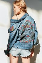 BDG Floral Embroidered Relaxed Denim Jacket