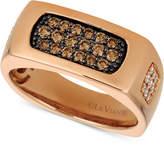 LeVian Le Vian Gents Men's Diamond Cluster Ring (5/8 ct. t.w.) in 14k Rose Gold