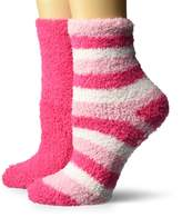Dr. Scholl's Women's 2 Pack Spa Stripe Crew Socks