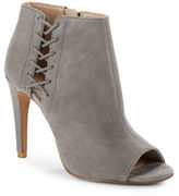 French Connection Suede Open Toe Stiletto Booties