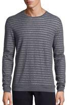 John Varvatos Cotton Striped Sweatshirt