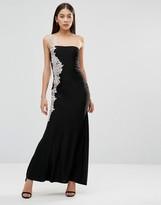 AX Paris Crochet Side Detail Maxi Dress