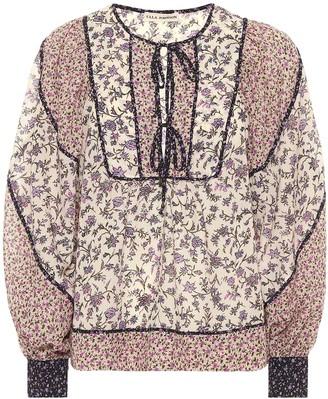 Ulla Johnson Colette floral cotton-blend blouse