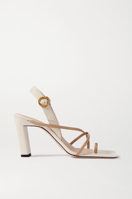 Wandler Elza Two-tone Leather Slingback Sandals - Off-white