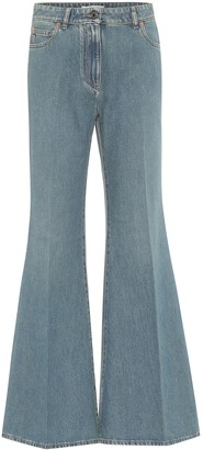 Valentino VLOGO high-rise flared jeans
