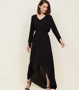New Look Mela Slinky Glitter Flared Sleeve Dress