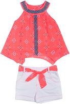 Little Lass Aztec Print Top and Shorts Set - Preschool Girls 4-6x