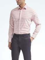 Banana Republic Grant-Fit Non-Iron Stretch Plaid Shirt