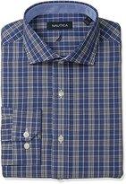 Nautica Men's Plaid Shirt with Winsford Cutaway Collar