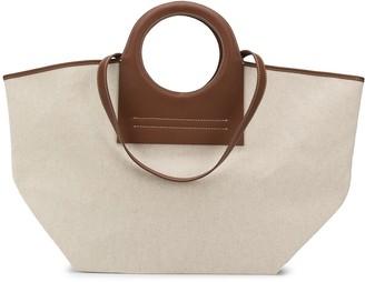Hereu Cala Leather-Trimmed Large tote bag