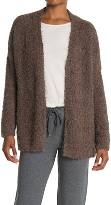 Current Air Tie Waist Fuzzy Cardigan