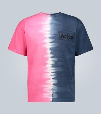 Aries Half and Half tie-dye T-shirt