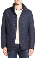 Sanyo Men's Fashion House Quilted Wool Blend Jacket