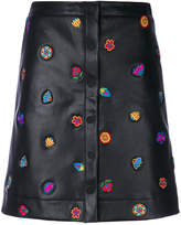 Paul Smith embroidered button-down skirt