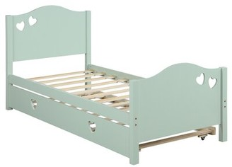 Noille Twin Daybed with Trundle Red Barrel Studio Color: White