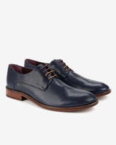 Ted Baker Classic Leather Derby Shoes Dark Blue