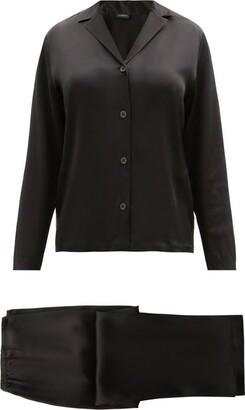 La Perla Silk-satin Pyjamas - Womens - Black