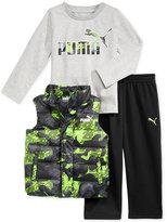 Puma 3-Pc. T-Shirt, Vest & Pants Set, Toddler Boys (2T-5T) & Little Boys (2-7)
