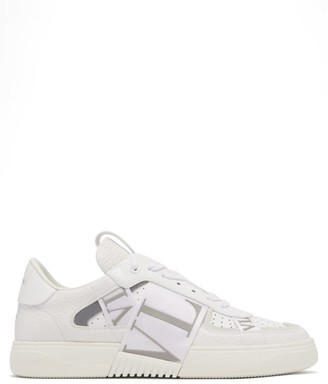 Valentino Vl7n Logo-embossed Leather Trainers - White