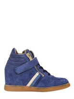 60mm Suede Wedge Sneakers
