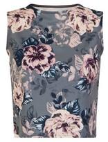 Dorothy Perkins Womens Girls On Film Grey Floral Print Crop Top, Grey