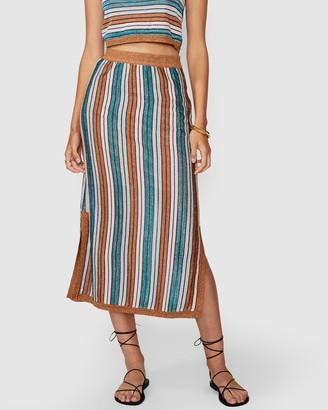 SUBOO Lolita Knit Midi Skirt