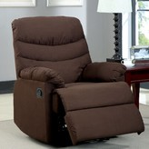 Hokku Designs Singclaire Manual Glider Recliner Upholstery: Dark Brown