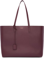 Saint Laurent Burgundy Large Shopping Tote Bag
