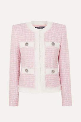 Balmain Embellished Tweed Blazer - Pink