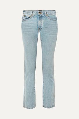 KHAITE Kyle Low-rise Straight-leg Jeans - Light blue