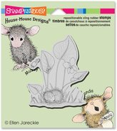 Stampendous HMCV28 Violet Nap House Mouse Cling Stamp