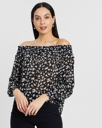 Atmos & Here Melody Off-Shoulder Blouse