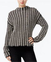 Rachel Roy Patterned Mock-Neck Sweater, Only at Macy's