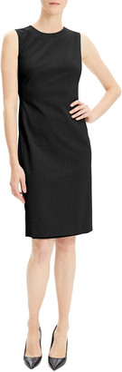 Theory Eano Sleeveless Good Wool Suiting Dress