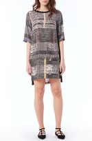 Michael Stars Patch Pocket Mixed Media Shift Dress
