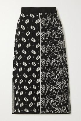 Kenzo Jacquard-knit Midi Skirt - Black