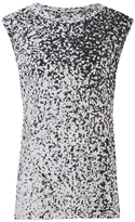 Kenzo Women's Printed Cotton Blend Jersey Sleeveless Top Glycine