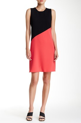 Colorblock Sleeveless Trapeze Dress