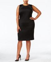 Calvin Klein Plus Size Embellished Bodycon Scuba Dress