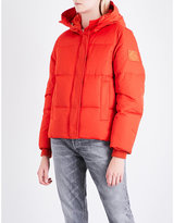 Kenzo Quilted hooded shell-down jacket