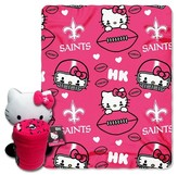 Hello Kitty NFL Saints Blanket and Hugger Bundle (40 x 50)