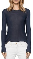 Zadig & Voltaire Willy Gold Long-Sleeve Tee