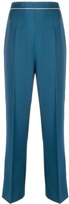 Fendi Contrast Stitching Straight-Leg Trousers