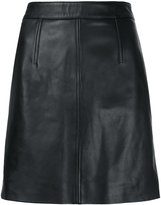 Nobody Denim Classic Leather Skirt Blk Leather