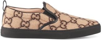 Gucci Men's GG wool slip-on sneaker