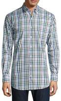 Peter Millar Trail Plaid Cotton Shirt